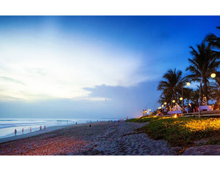 Winter is actually rainy season in Bali but when the clouds part, don't miss  Seminyak Beach.