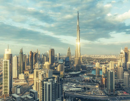 Dubai is known for its jaw-dropping modern landmarks –most famously the Burj Khalifa, the world's tallest building, shown here – and ultra-glamorous scene.