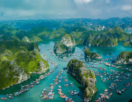 Visiting Hanoi puts you within an hour's flight time picturesque Ha Long Bay.