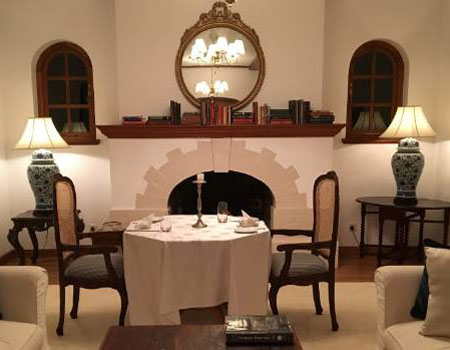 Enjoy dinner in the private dining room at Thotalagala.