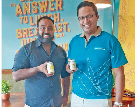 Owner of Bellissima, Dush Ratnayake and Dilmah CEO Dilhan Fernando.