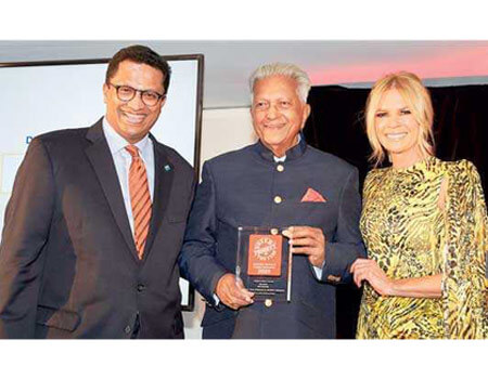 Dilmah CEO Dilhan C Fernando, Dilmah Founder Merrill J Fernando and Sonia Kruger