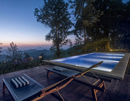 The infinity pool on Goatfell's terrace delivers one of Sri Lanka's grandest private vistas