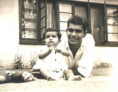 Vivian and his eldest child Vicki at Rahanwatte