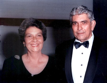 Vivian (President of the West Australian Sri Lankan Association) with Charmaine in Perth at a New Years Eve Ball in the late 1990s