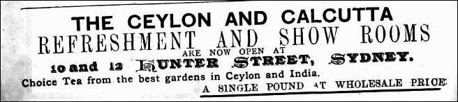 30.The Ceylon & Calcutta Refreshment Show Rooms