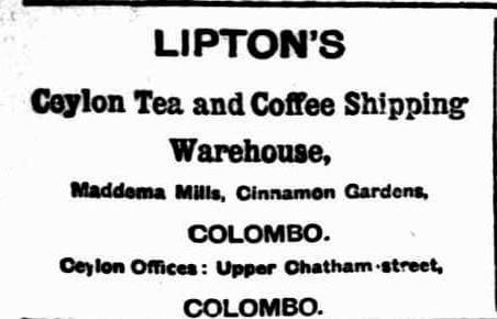 44.Lipton's Ceylon Tea & Coffee Shipping