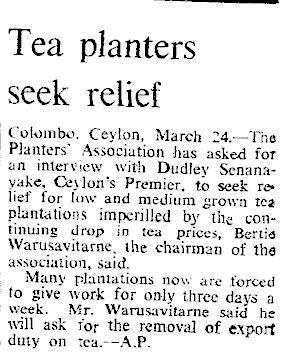 25.Tea Planters seek relief