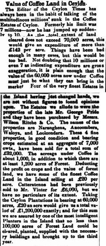03.Value of Coffee Land in Ceylon