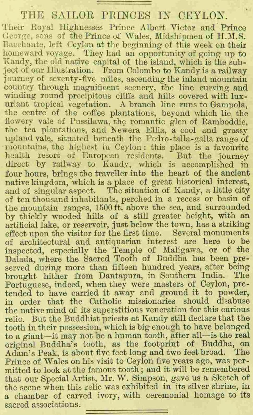 40.The Sailor Princes in Ceylon - Princes Albert Victor & George