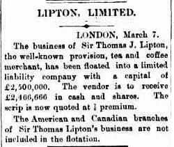 06.Lipton, Limited floated into a limited liability company