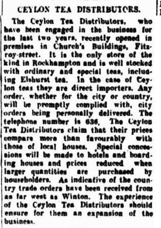 63.Ceylon Tea Distributors in Rockhampton