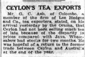 65.Ceylon's Tea Exports - G.C. Ash of Lee Hedges