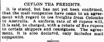 68.Ceylon Tea Freights - Mail companies agreement