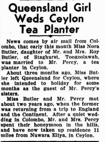 76.Queensland Girl weds Ceylon Tea planter