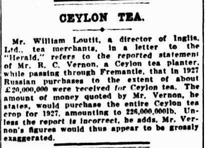 81.Ceylon Tea - Mr. William Loutit