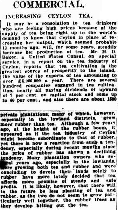 83.Increasing Ceylon Tea - Consolation to tea drinkers