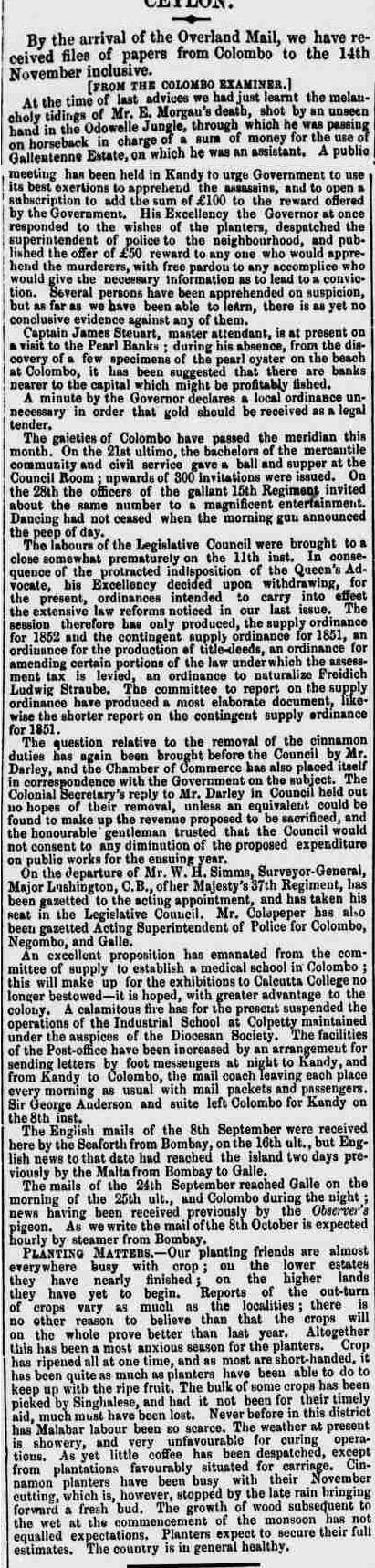 115. Ceylon News